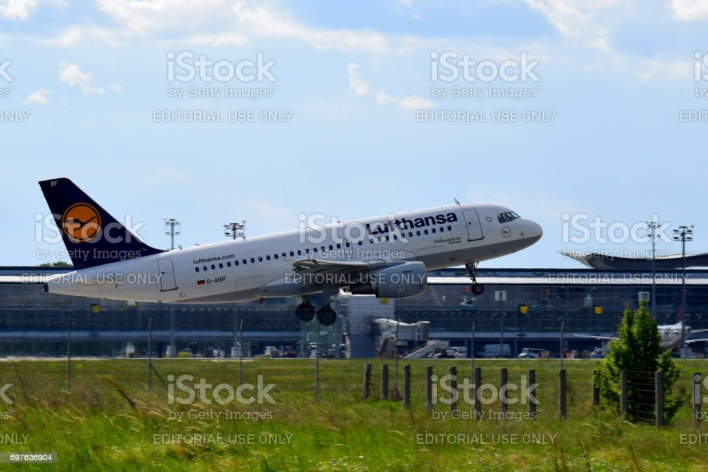 Lufthansa Airbus A319 stock photo