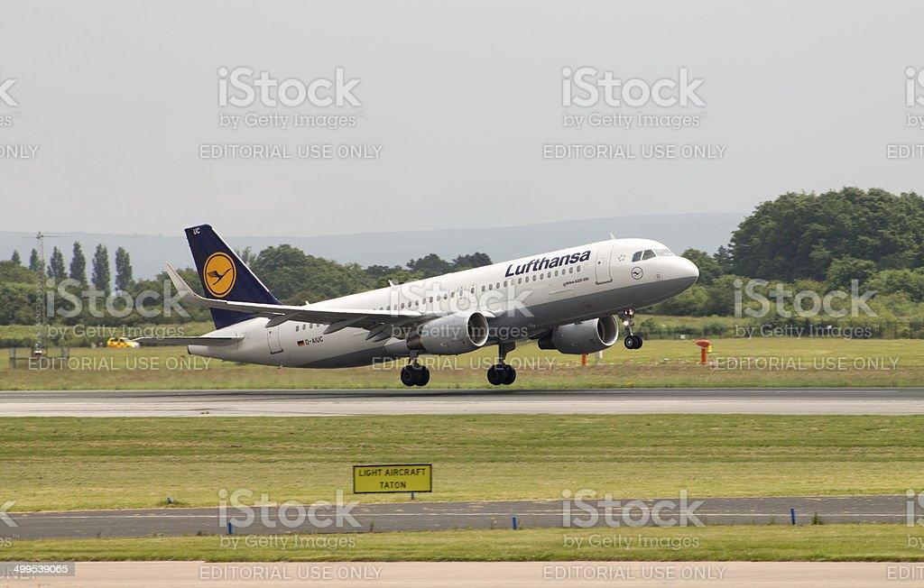 Lufthansa Airbus A320-200 stock photo
