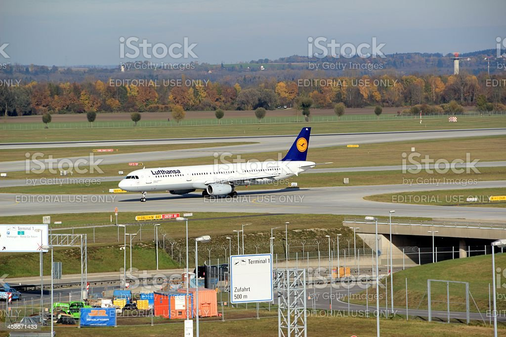 Lufthansa Airbus A321-100 D-AIRL Kulmbach stock photo