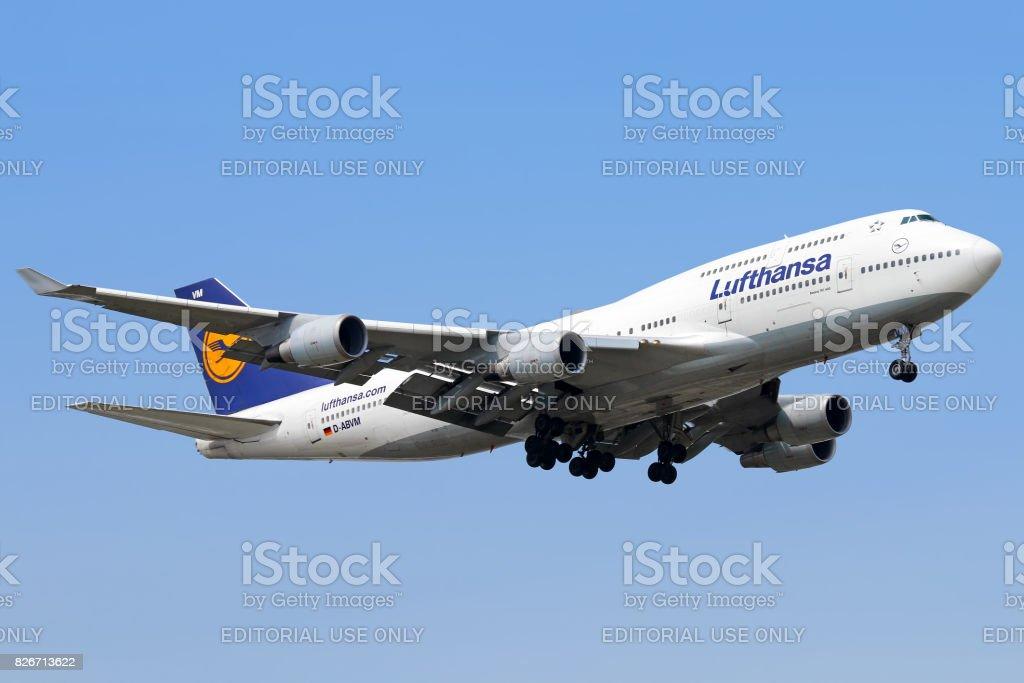 Lufthansa aircraft stock photo