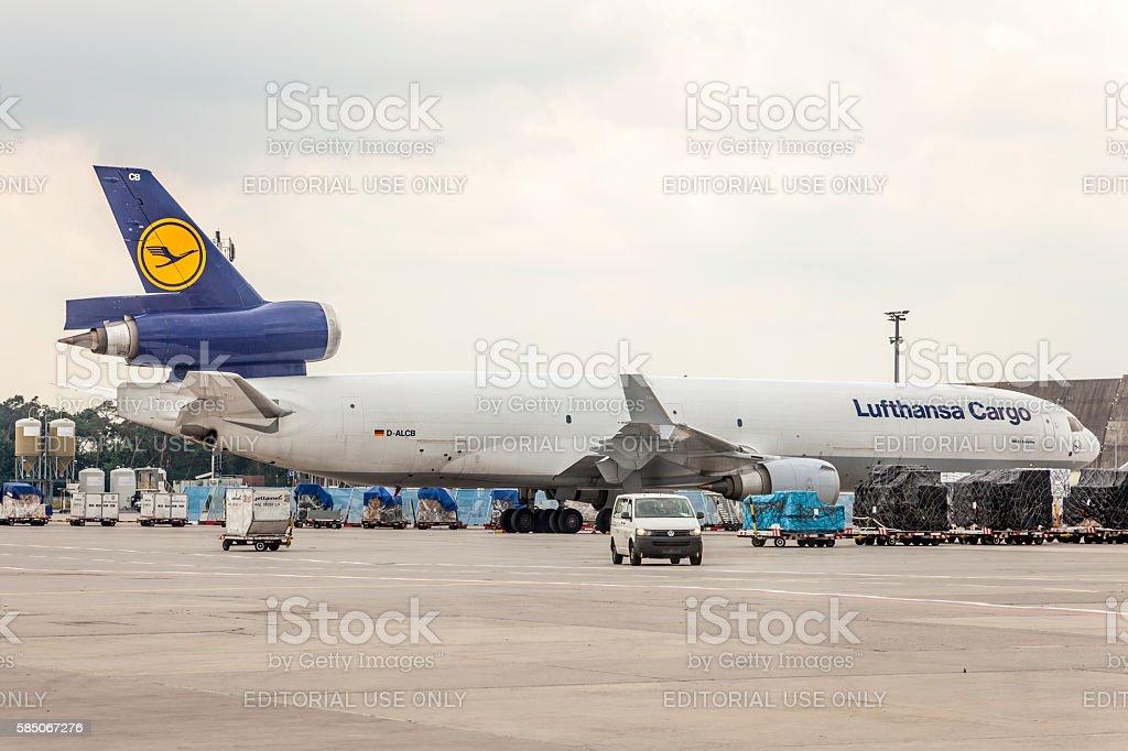 Lufthansa Cargo MD-11 Freighter stock photo
