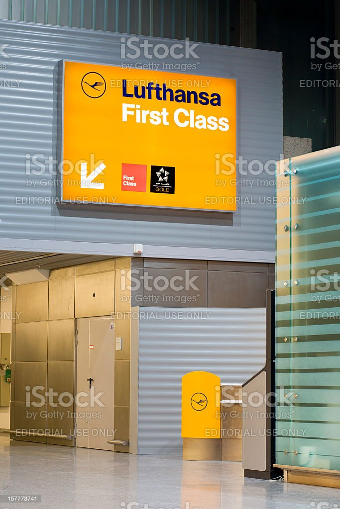 Lufthansa First Class Check-In royalty-free stock photo