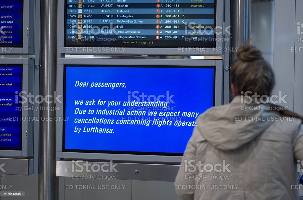 Lufthansa strike stock photo
