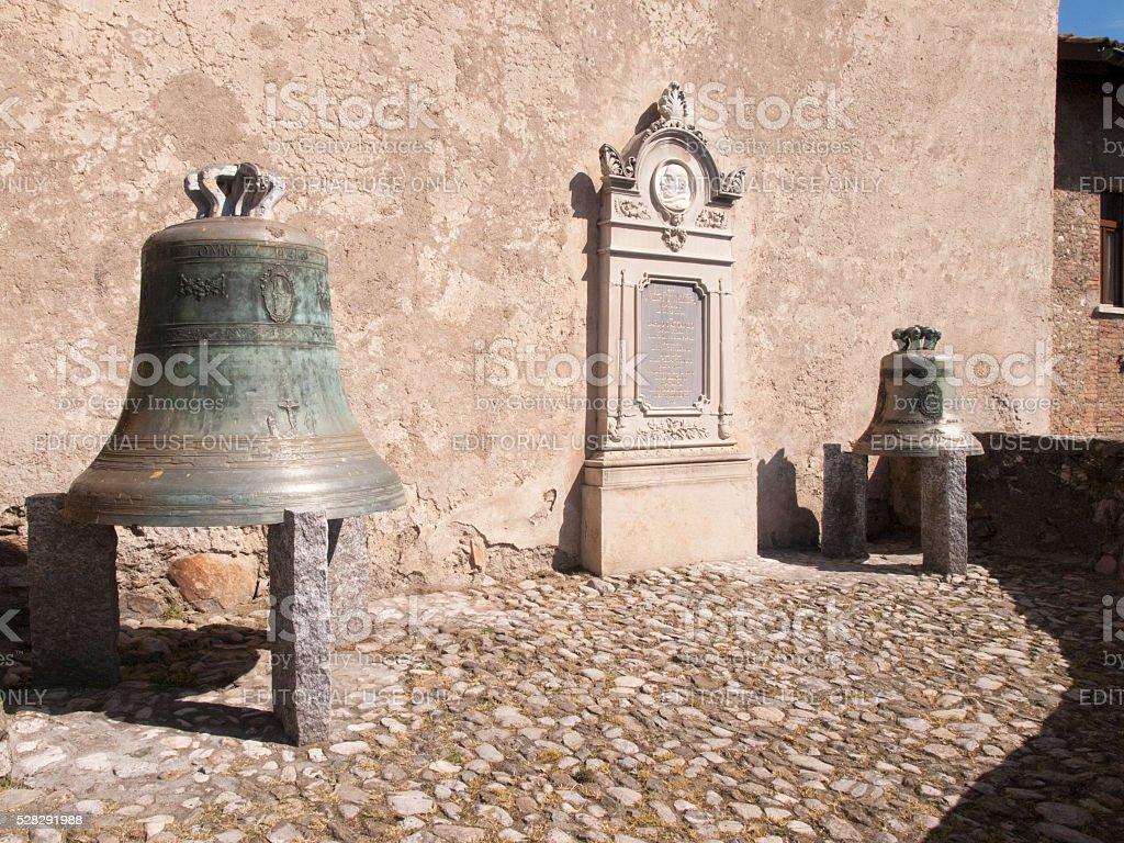 Lugano, Bells near the church of San Giorgio stock photo