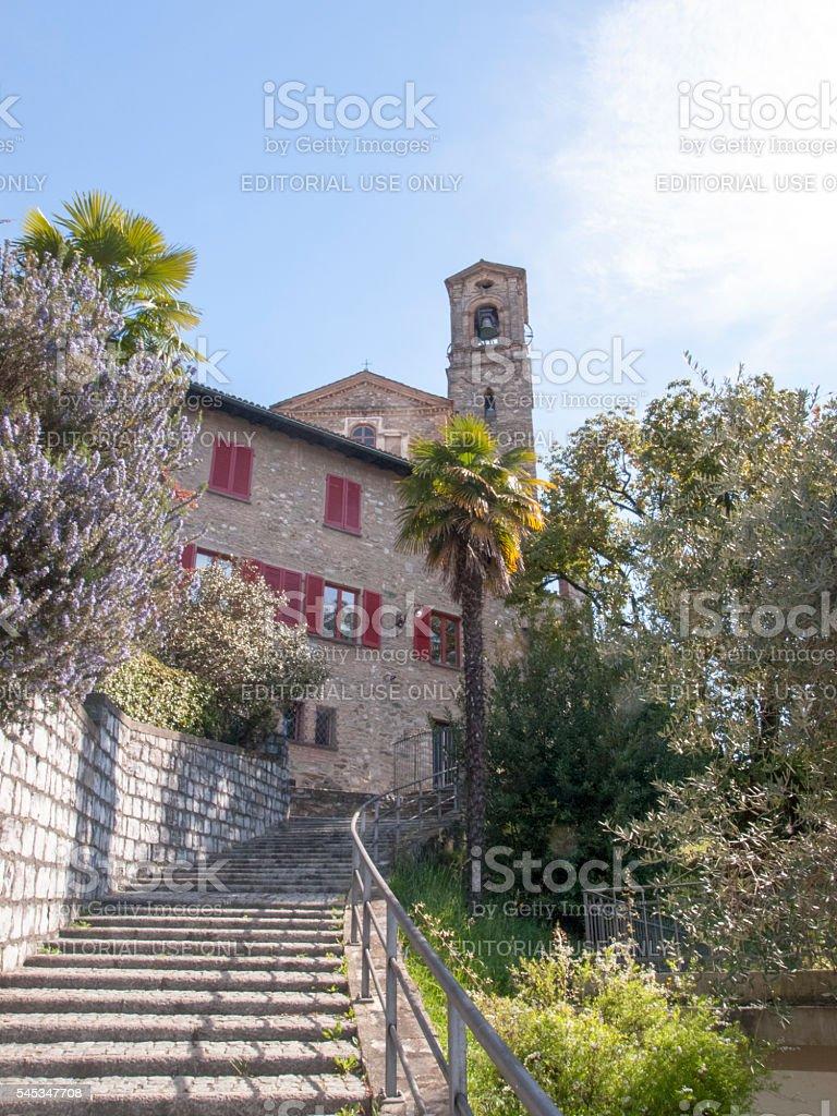 Lugano, Church of San Giorgio stock photo