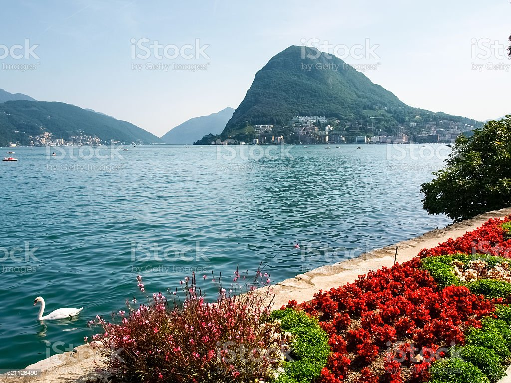 Lugano, Ciani Park stock photo