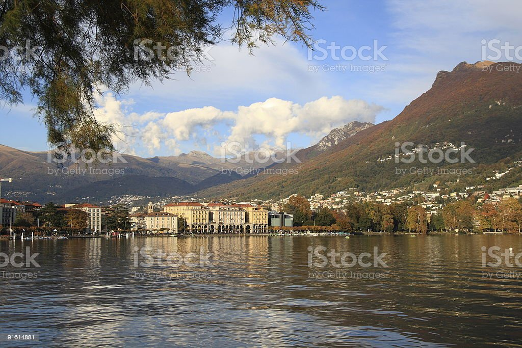 Lugano Lake royalty-free stock photo