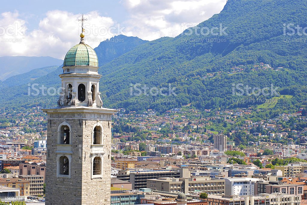 Lugano,Switzerland royalty-free stock photo