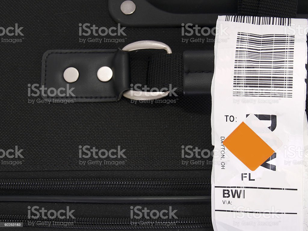 Luggage and Tag stock photo