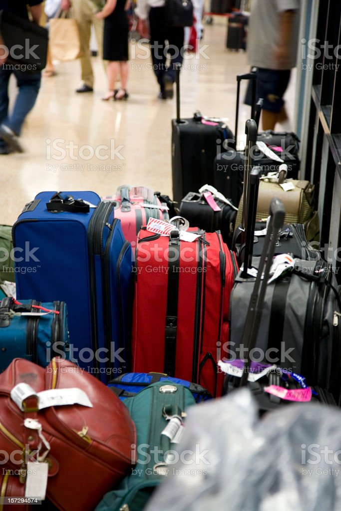 Luggage at an Airport royalty-free stock photo