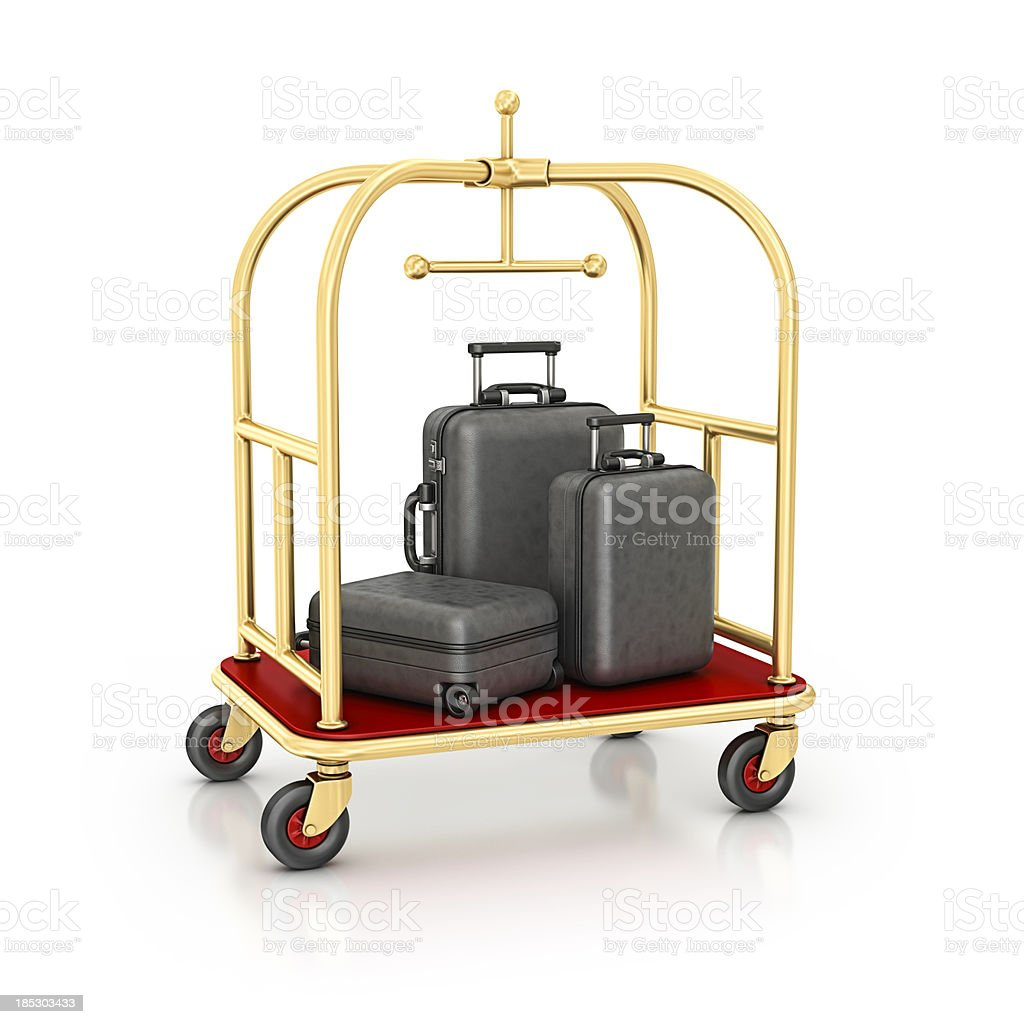 luggage cart royalty-free stock photo
