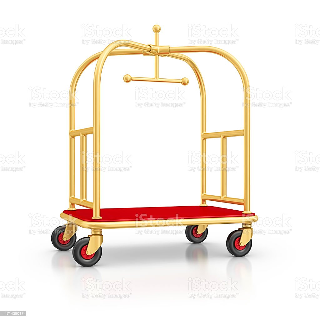 luggage cart stock photo