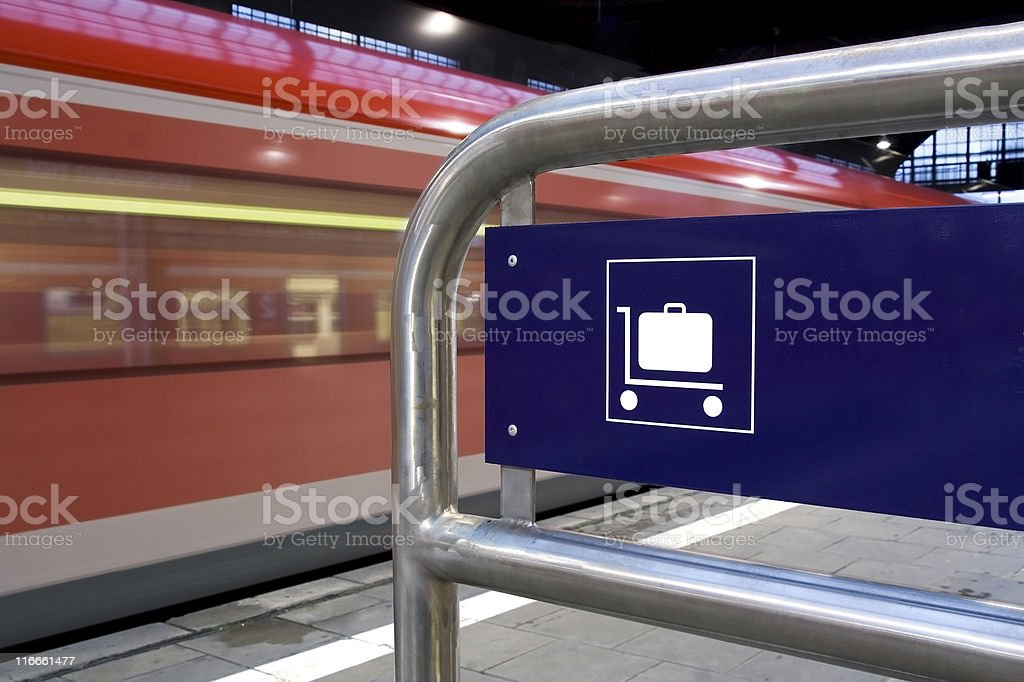 Luggage Cart Sign royalty-free stock photo