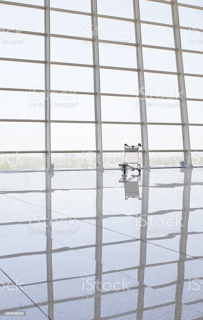 Luggage cart--Airport Travel royalty-free stock photo