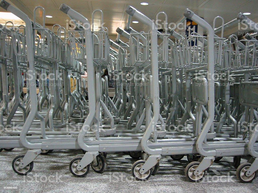 Luggage carts royalty-free stock photo