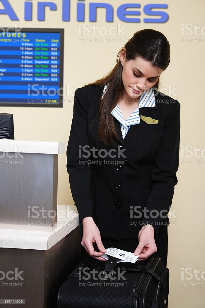 Luggage Check-In royalty-free stock photo