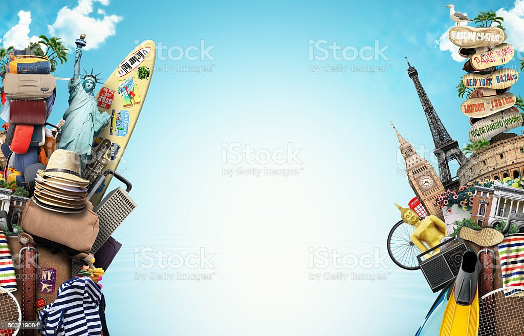 Luggage, goods for holidays stock photo