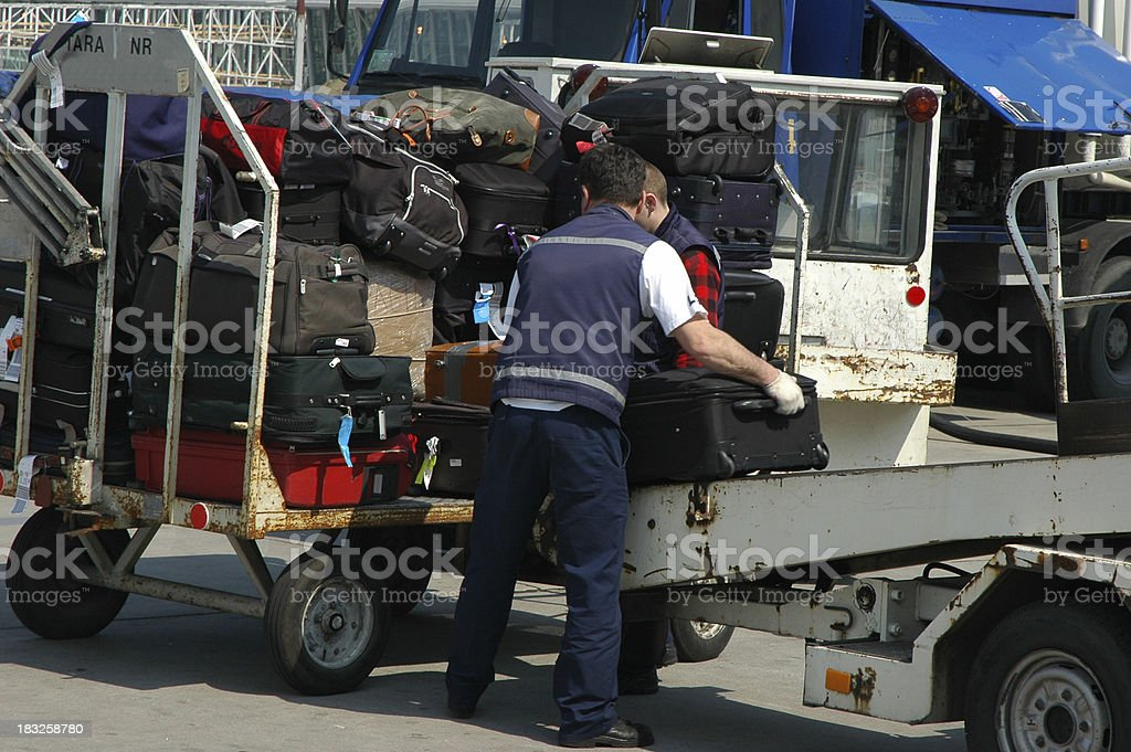 Luggage handling royalty-free stock photo