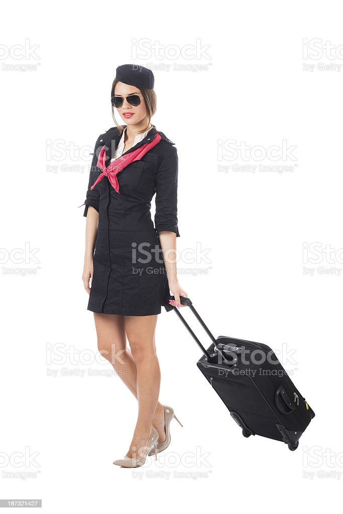 Luggage officer royalty-free stock photo