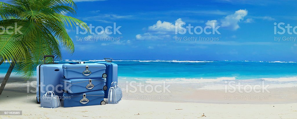 Luggage on Vacation stock photo