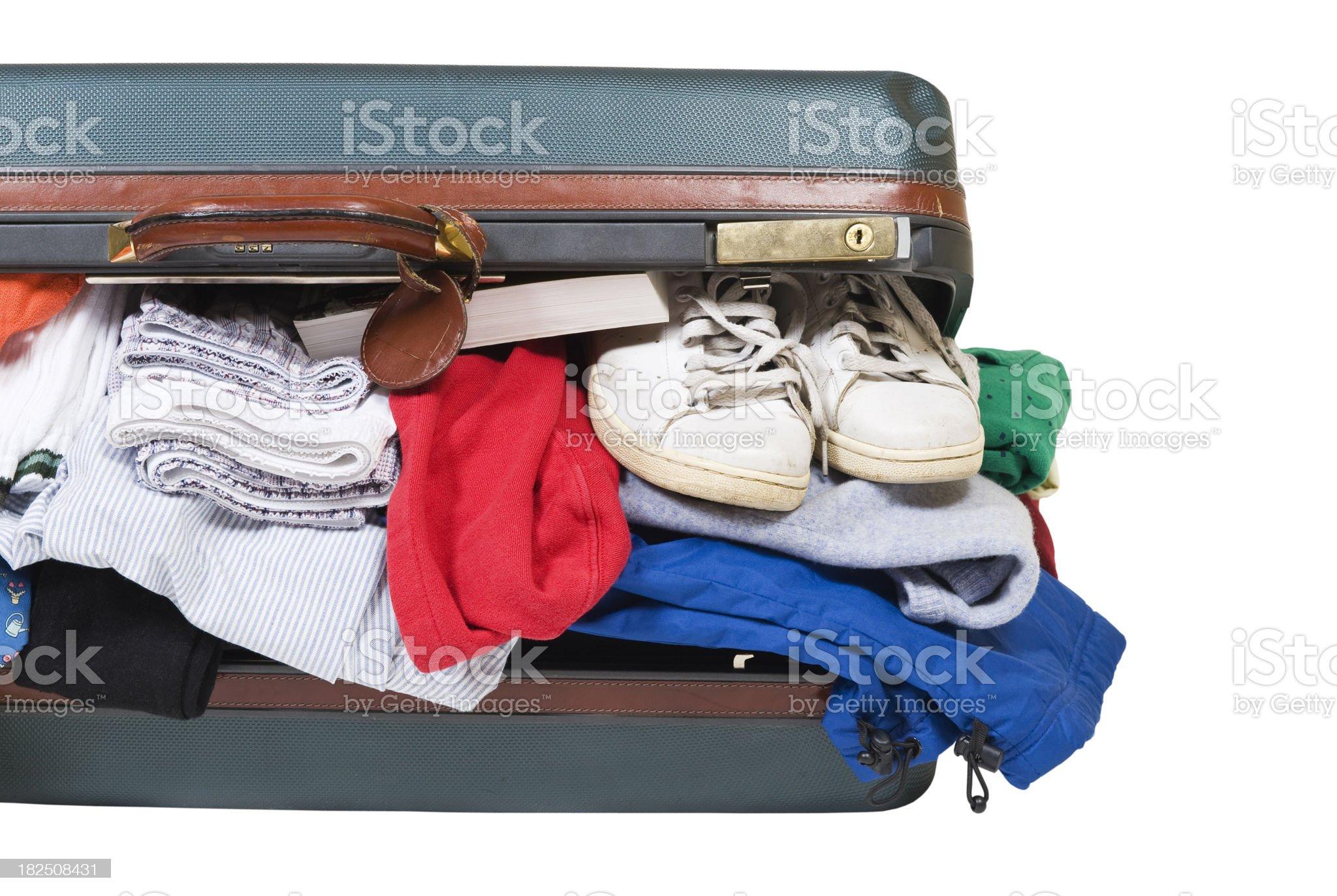 Luggage packing royalty-free stock photo
