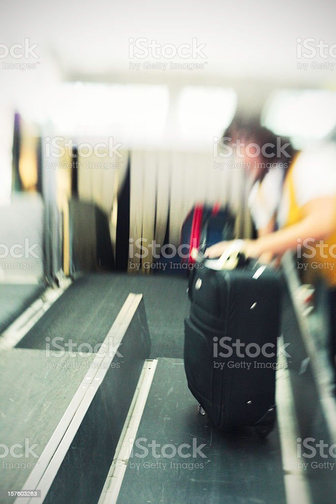 Luggage registration stock photo