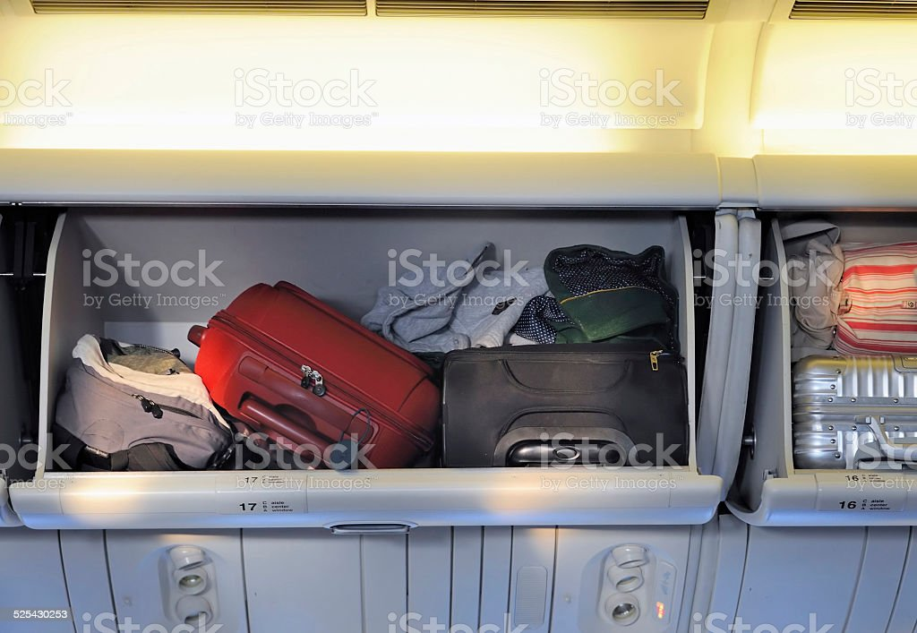 luggage storage stock photo