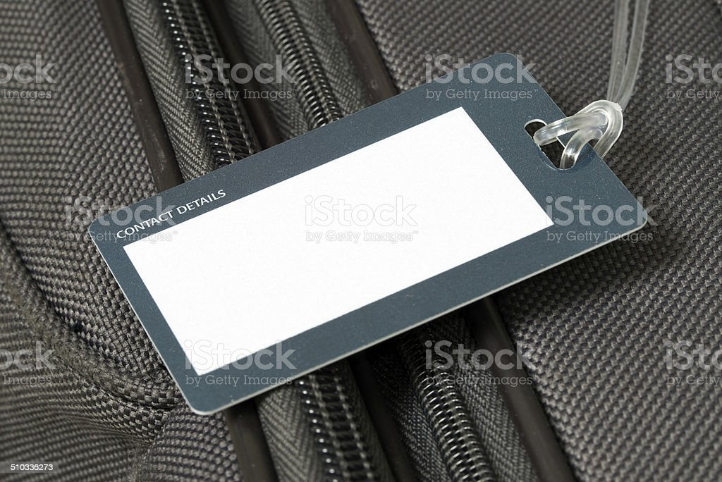 Luggage tag stock photo
