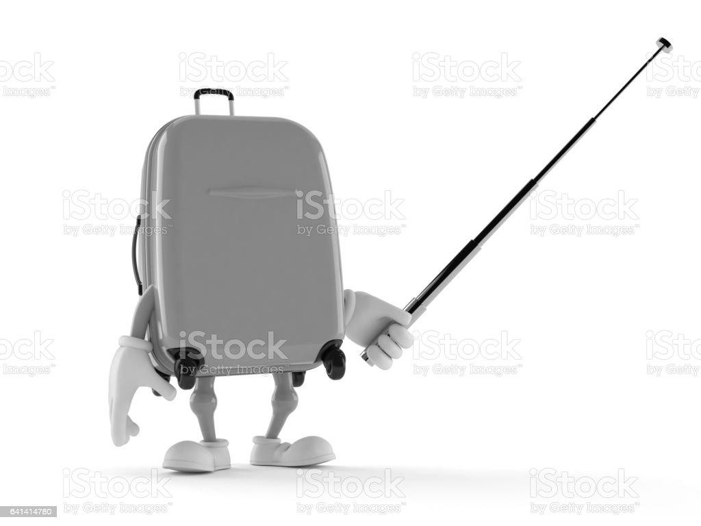 Luggage toon stock photo