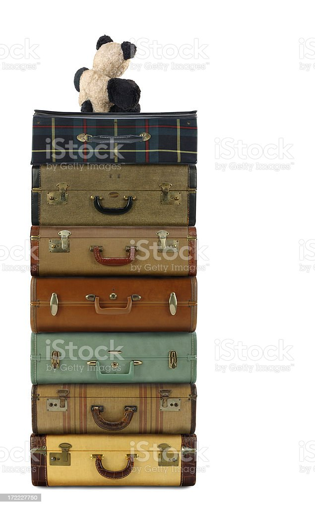 Luggage with Teddy royalty-free stock photo