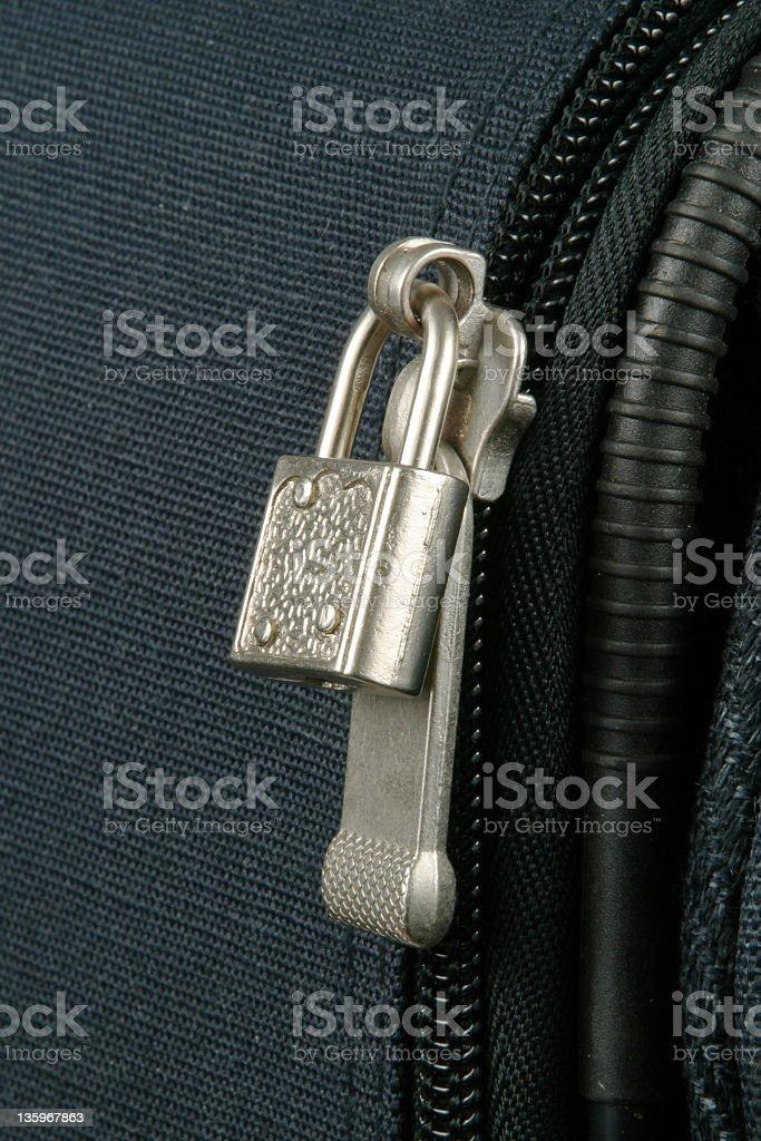 Luggage Zipper Lock, Suitcsase, Travel Bag royalty-free stock photo