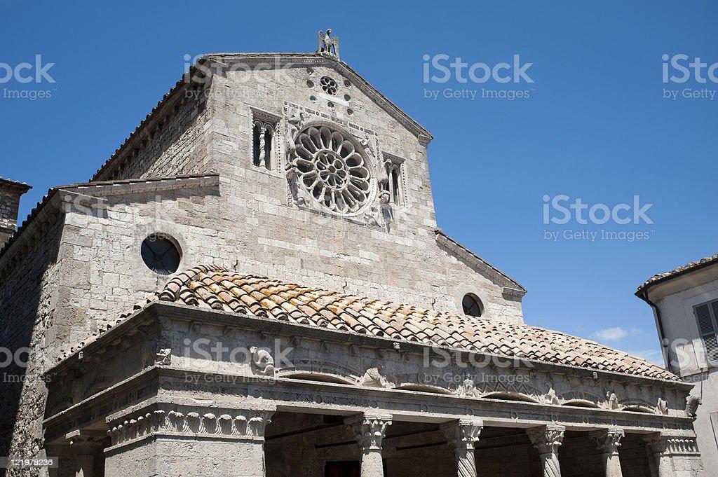 Lugnano in Teverina (Terni, Umbria, Italy) - Old church royalty-free stock photo