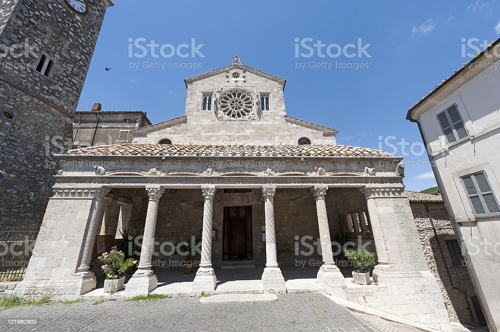 Lugnano in Teverina (Terni, Umbria, Italy) - Old church royalty-free stock photo