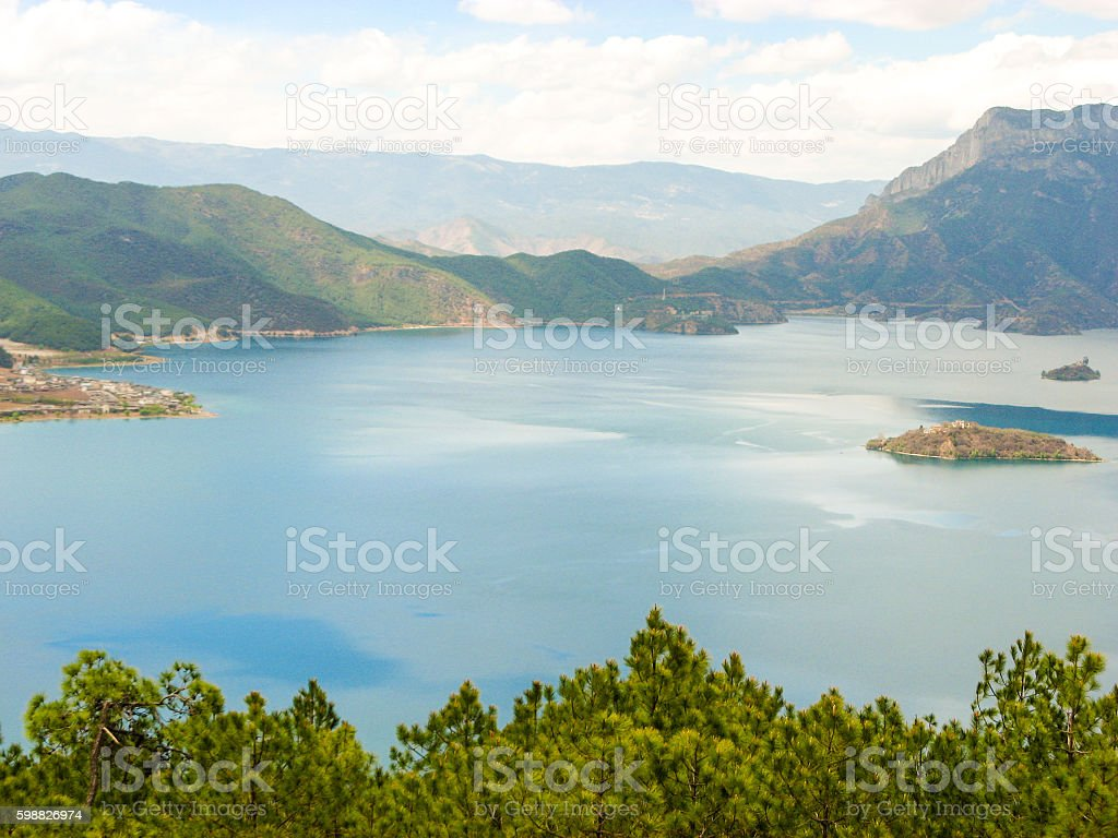 Lugu Lake, Yunnan, China stock photo