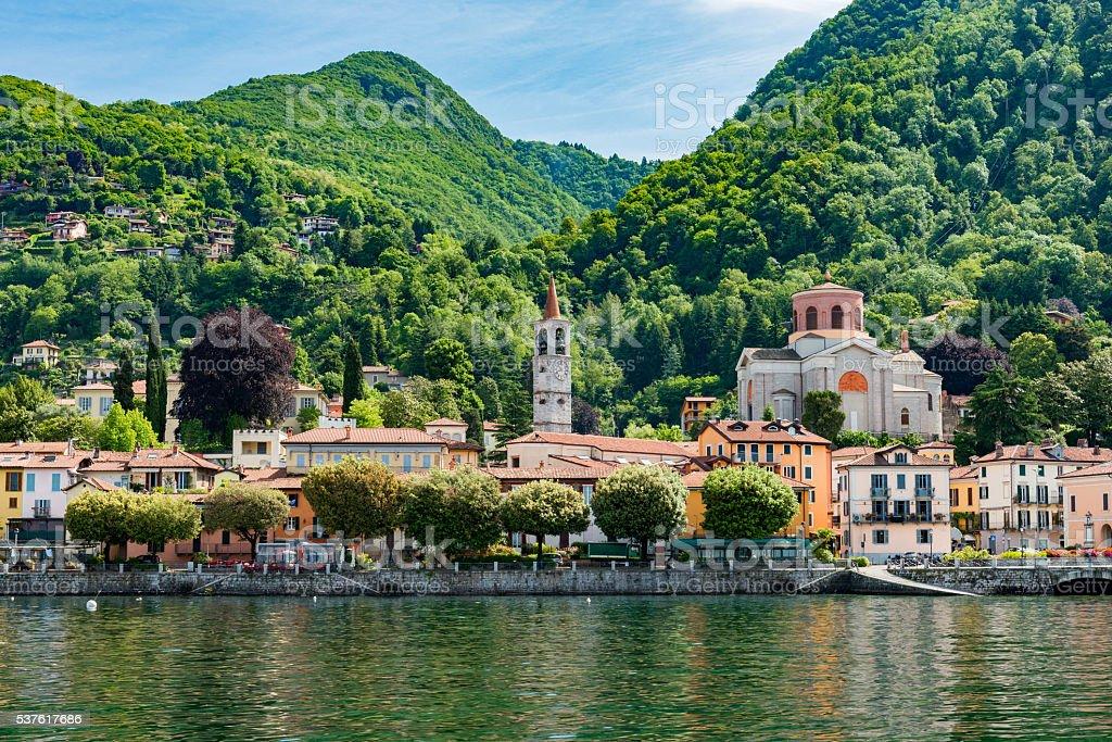 Luino in Italy at Lake Maggiore stock photo