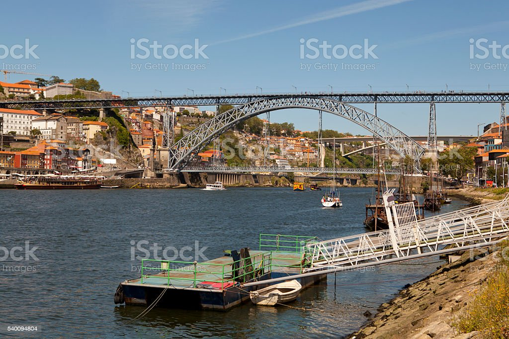 D. Luis l Bridge stock photo