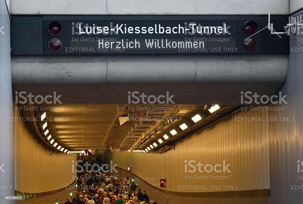 Luise-Kiesselbach-Tunnel Eingang stock photo