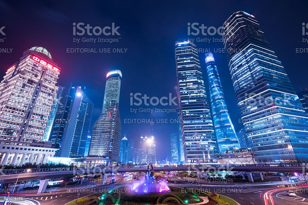 Lujiazui District in Shanghai - China stock photo