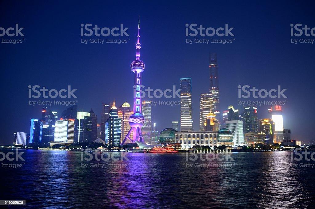 Lujiazui skyline, Shanghai, China stock photo