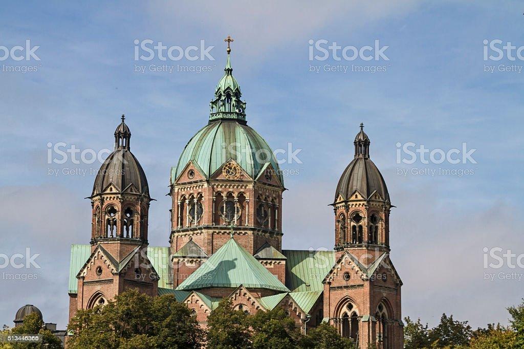 Luke church in Munich stock photo
