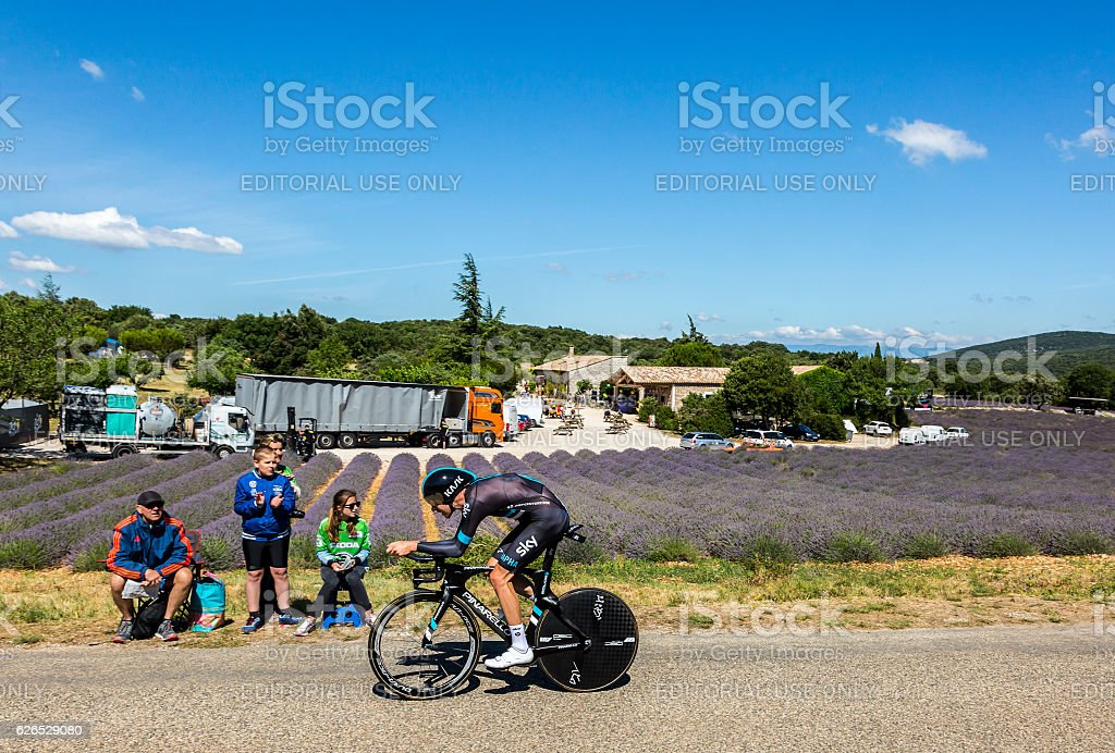 Luke Rowe, Individual Time Trial - Tour de France 2016 stock photo