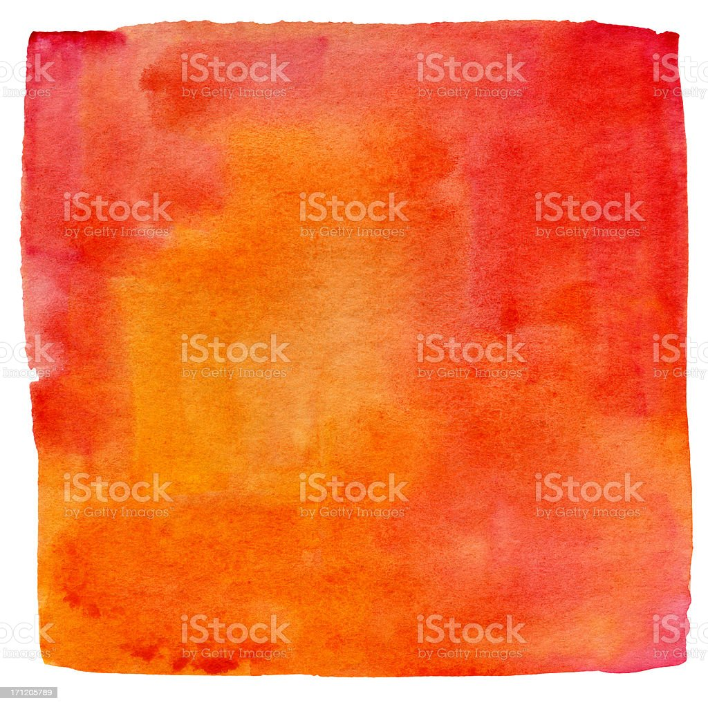 Lukianchik Peach watercolour square stock photo
