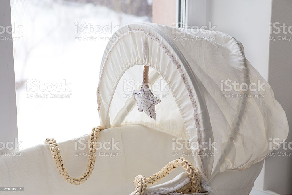 lullaby, cot for baby stock photo