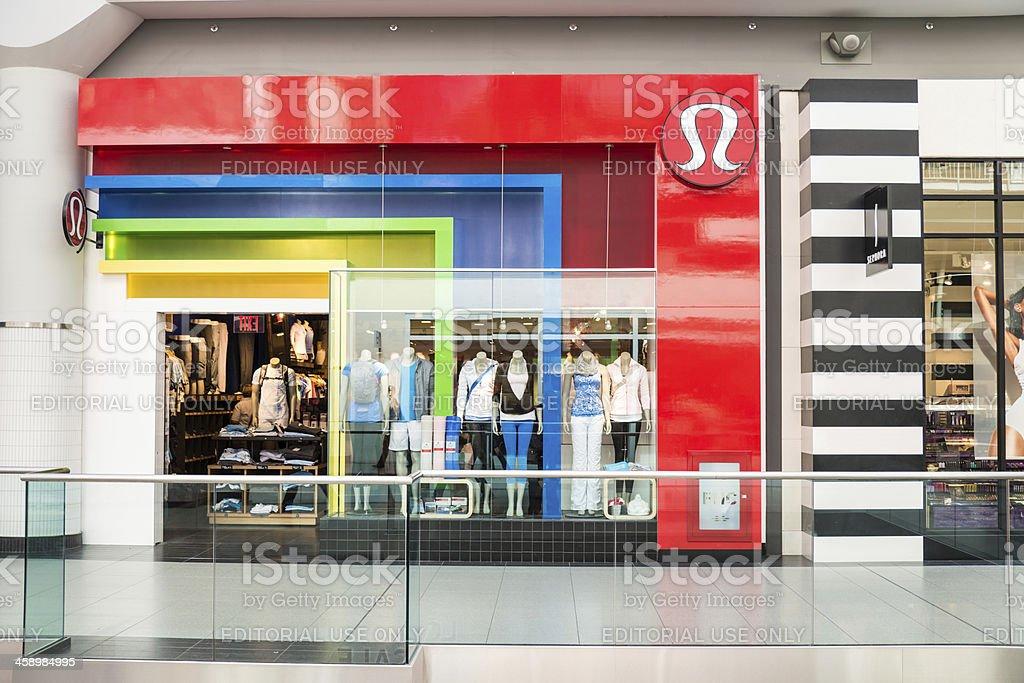 Lululemon Athletica Shop Canada royalty-free stock photo