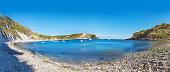Lulworth Cove Atlantic ocean, Dorchester, England,