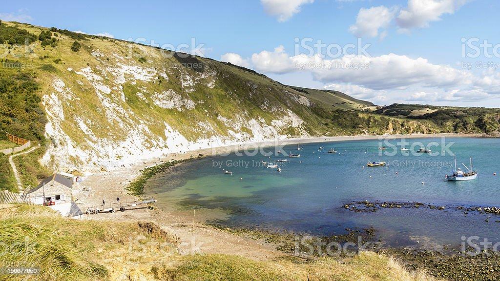 Lulworth Cove Dorset royalty-free stock photo