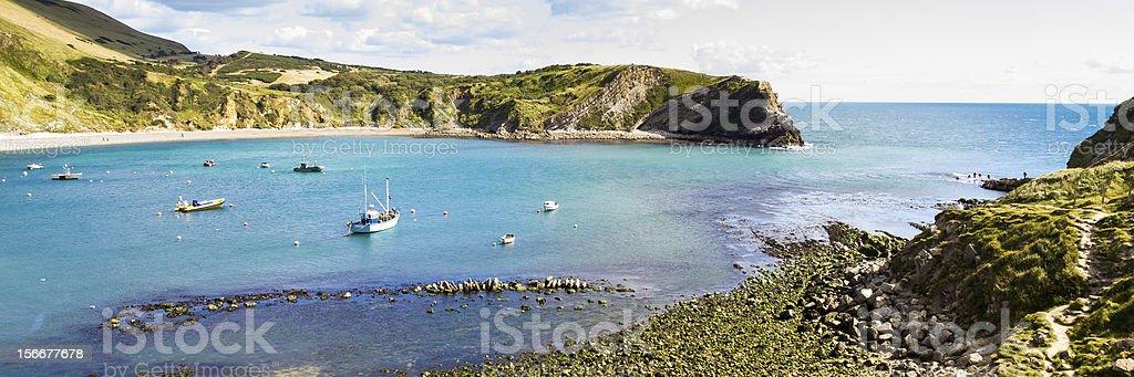 West Lulworth Cove Dorset photo libre de droits