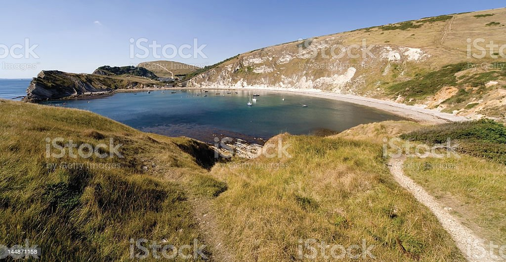 lulworth cove royalty-free stock photo