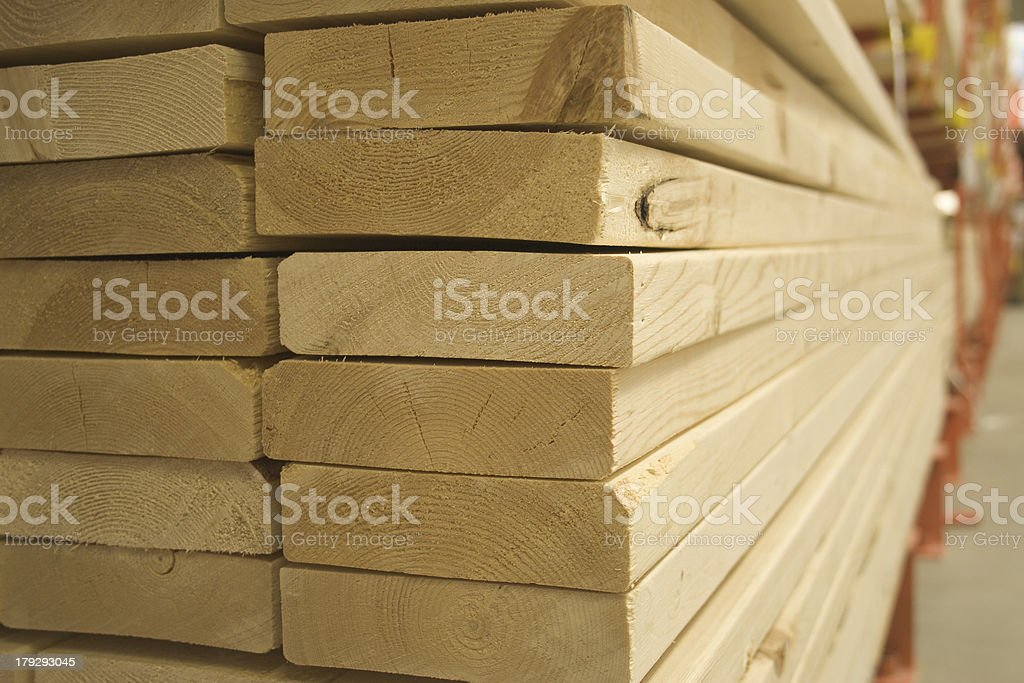 lumber and building materials stock photo