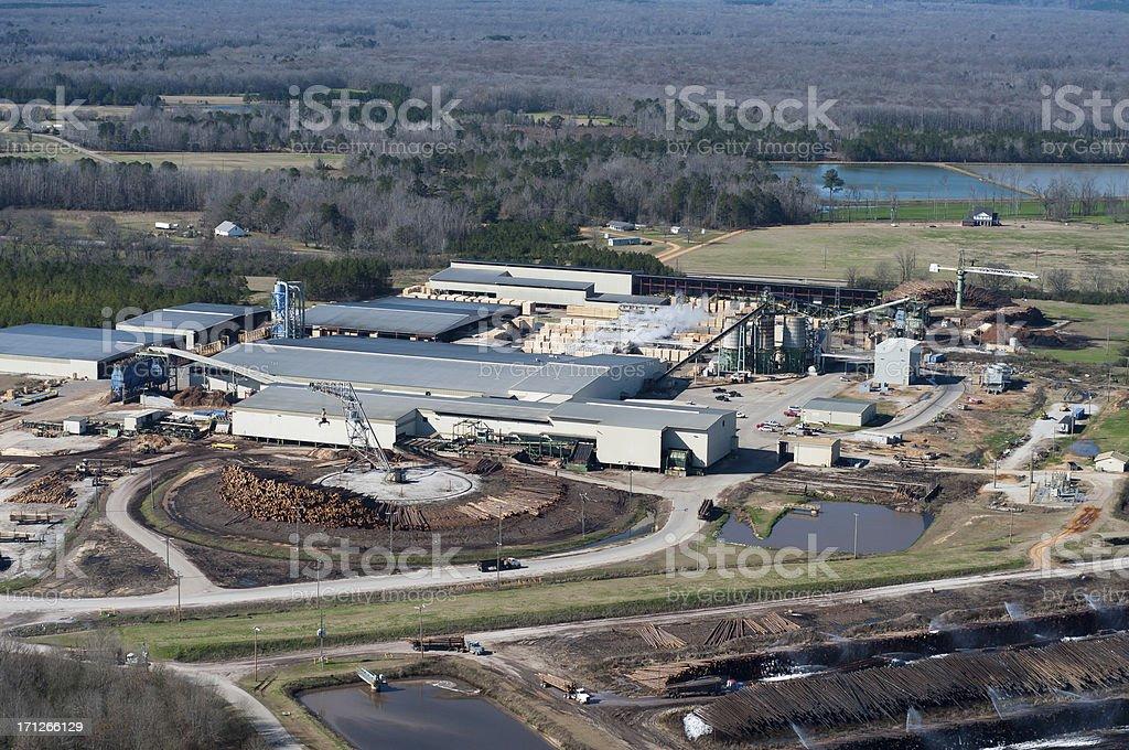Lumber Mill stock photo